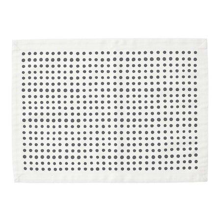 Bordbrikke Placemat Dot 37 x 50 Svart/Hvit