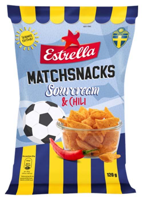 Matchsnacks Sourcream Chili - 120 g
