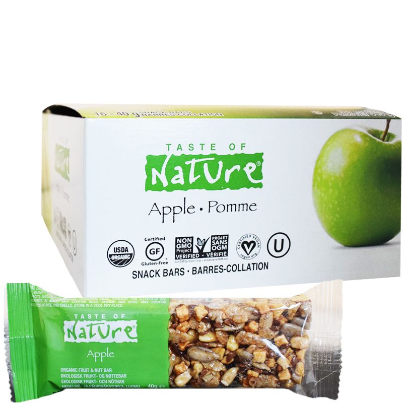 "Eko Hel Låda Snack Bar ""Apple"" 16 x 40g - 67% rabatt"