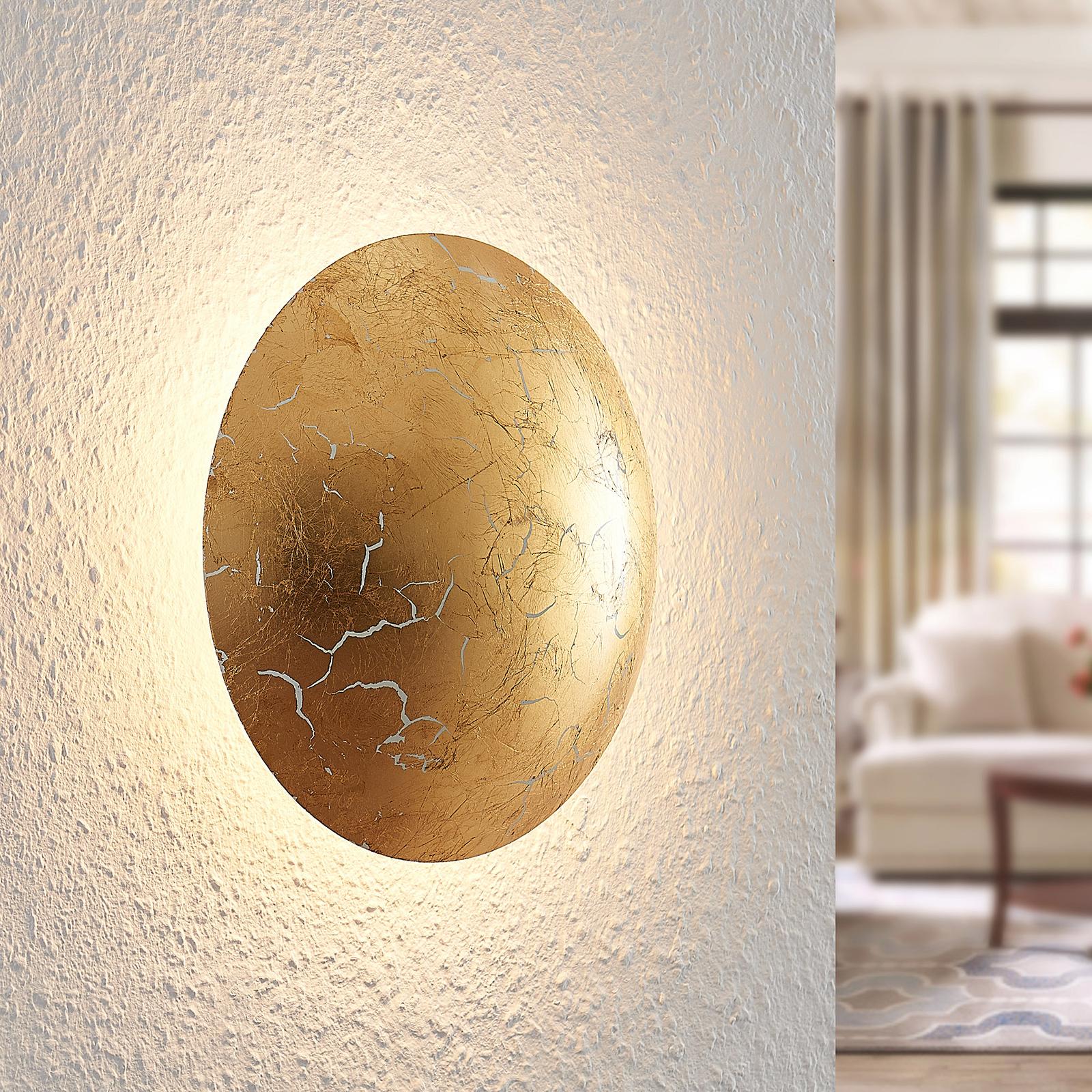 Lindby Illuma -LED-seinävalaisin kulta