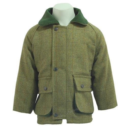 Game Technical Apparel Kid's Jacket Green Tweed - 2 to 3 Years
