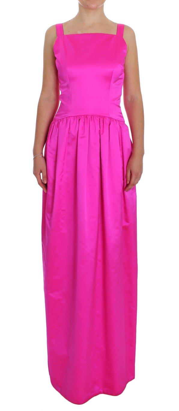 Dolce & Gabbana Women's Silk Long Sheath Ball Gown Dress Pink NOC10150 - IT40|S