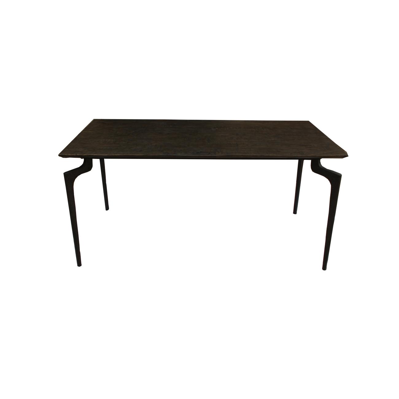 Matbord mörkt trä 160 cm järnben, Nordal