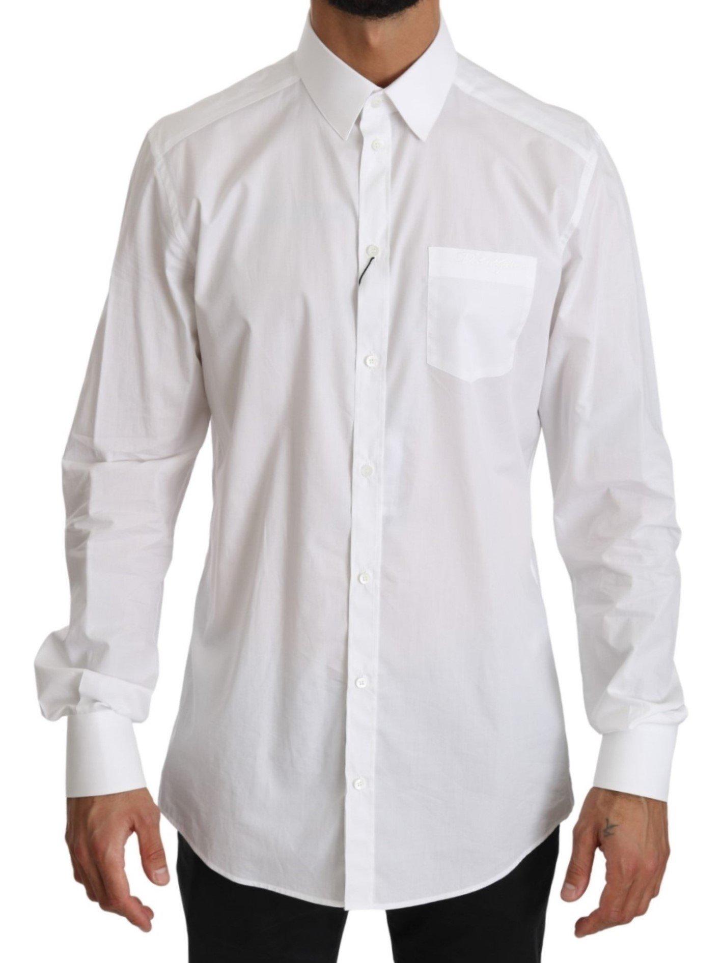 Dolce & Gabbana Men's LS Dress Formal Shirt White TSH4064 - IT41   L