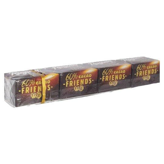 Tumma suklaa Tryffeli & Hasselpähkinä -täytteellä 4 x 11 g - 45% alennus