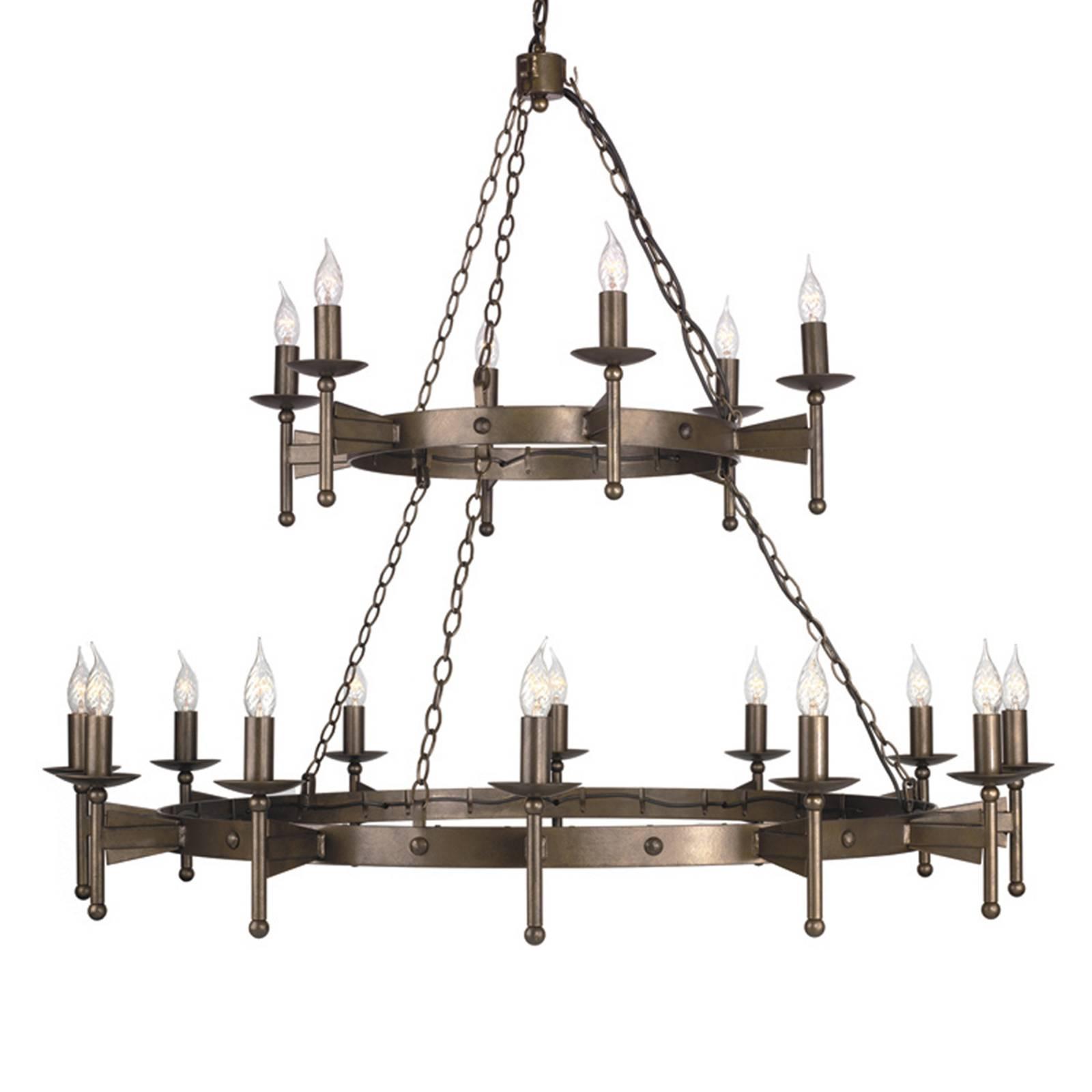 Keskiaikainen CROMWELL-kattokruunu, 18 lamppua
