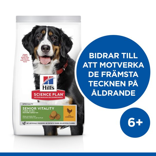 Hill's Science Plan Dog Adult 7+ Senior Vitality Large Breed Chicken 14 kg