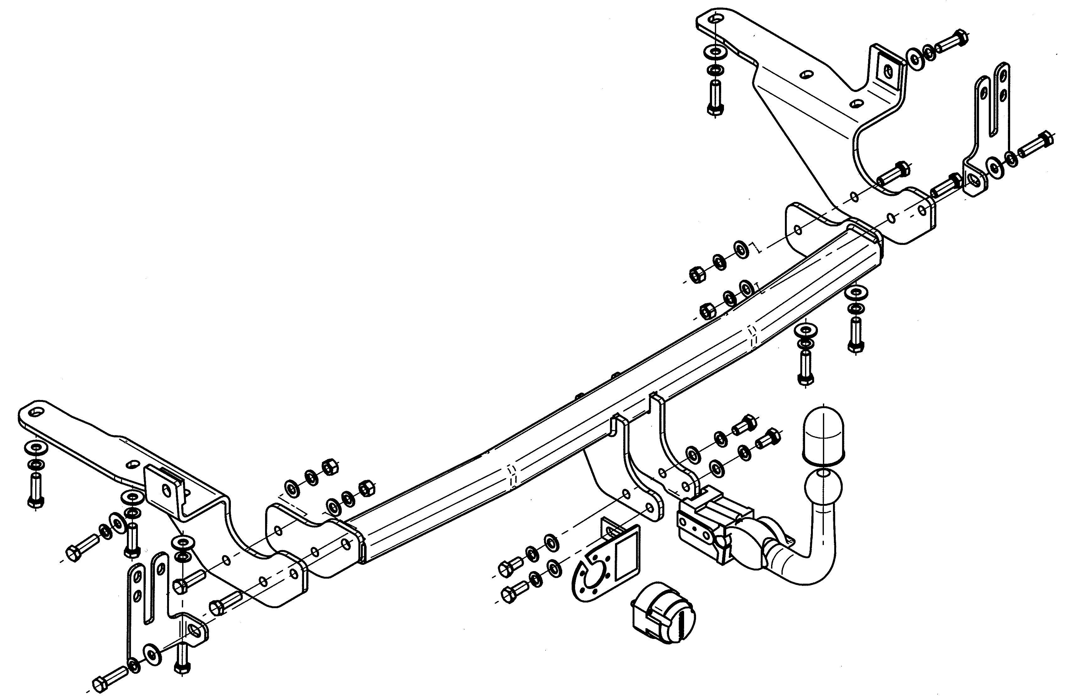 Vetokoukku STEINHOF STT-189 Toyota RAV 4 '05-