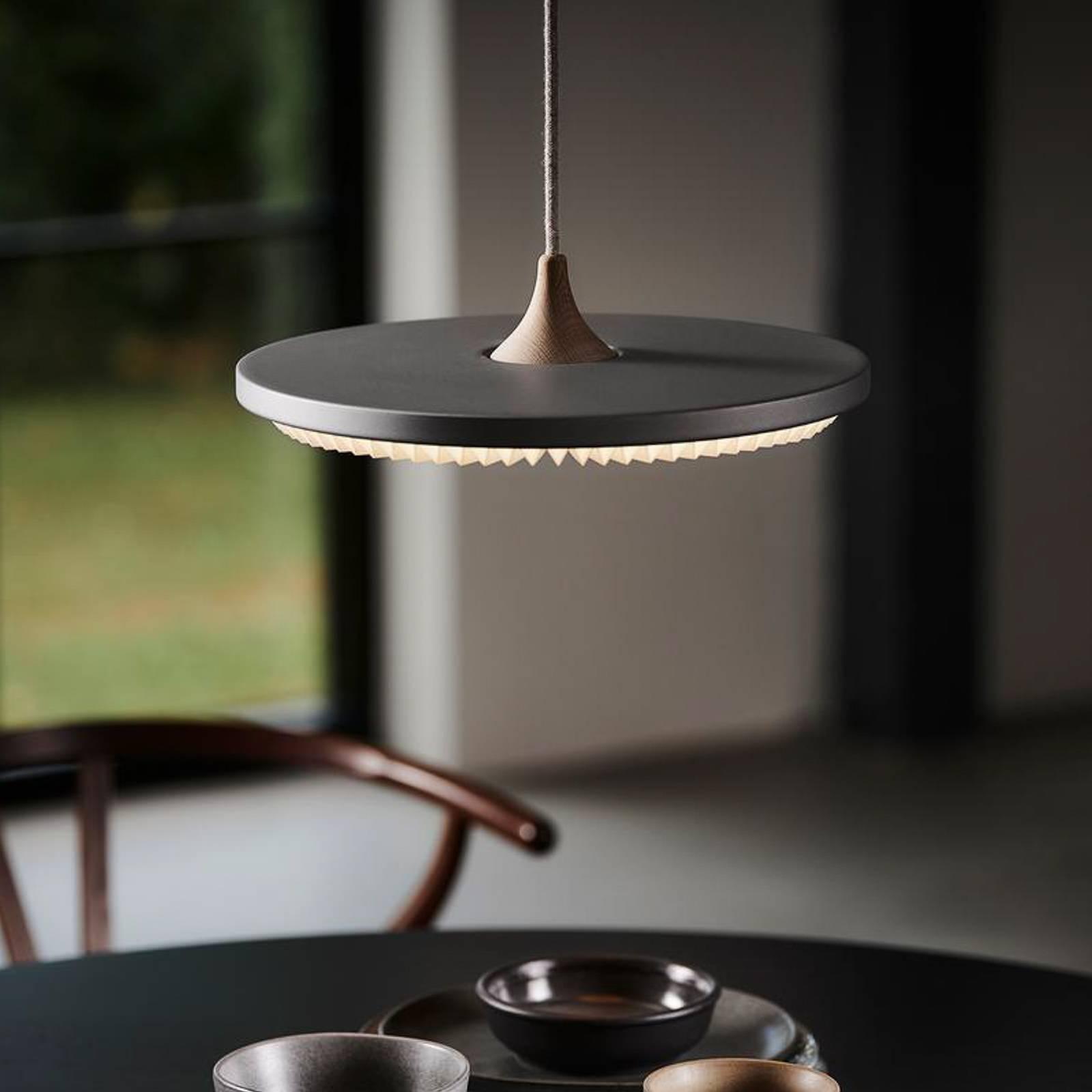 LE KLINT Soleil -LED-riippuvalaisin, harmaa Ø35 cm
