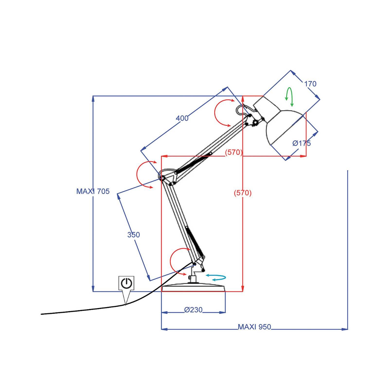 Aluminor Calypsa -työpöytävalaisin, valkoinen