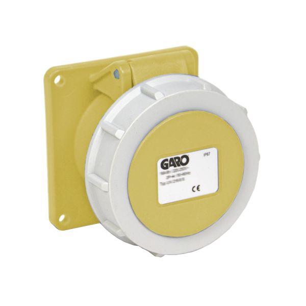 Garo UIV 432-4 S Paneelin ulostulo IP67, 5-napainen, 32A Keltainen, 4 h