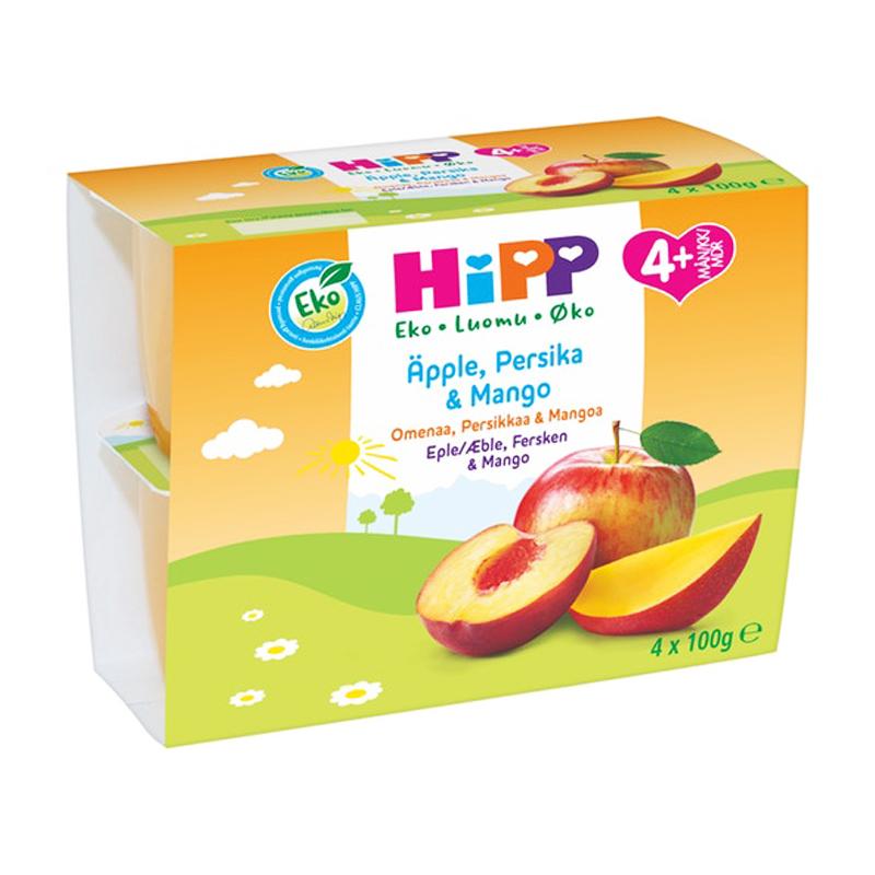 Fruktpuré Äpple, Persika & Mango 4-pack - 32% rabatt