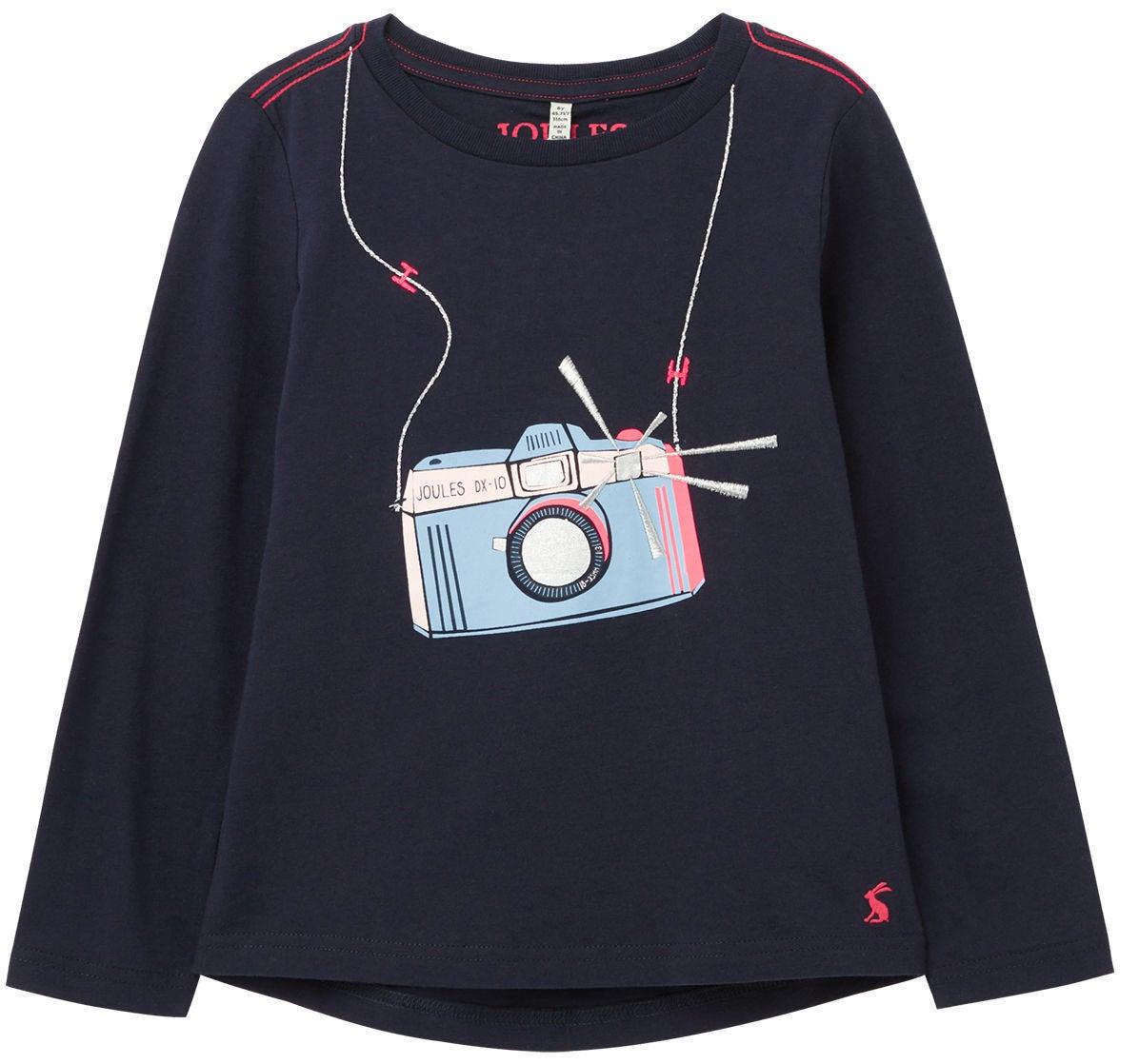 Tom Joule Ava T-shirt, Navy Camera, 3 år