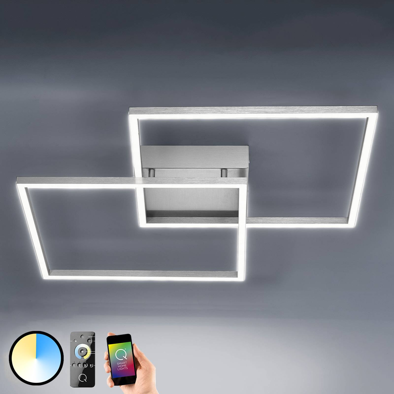 Inigo - LED-taklampe med fjernkontr. 53 cm