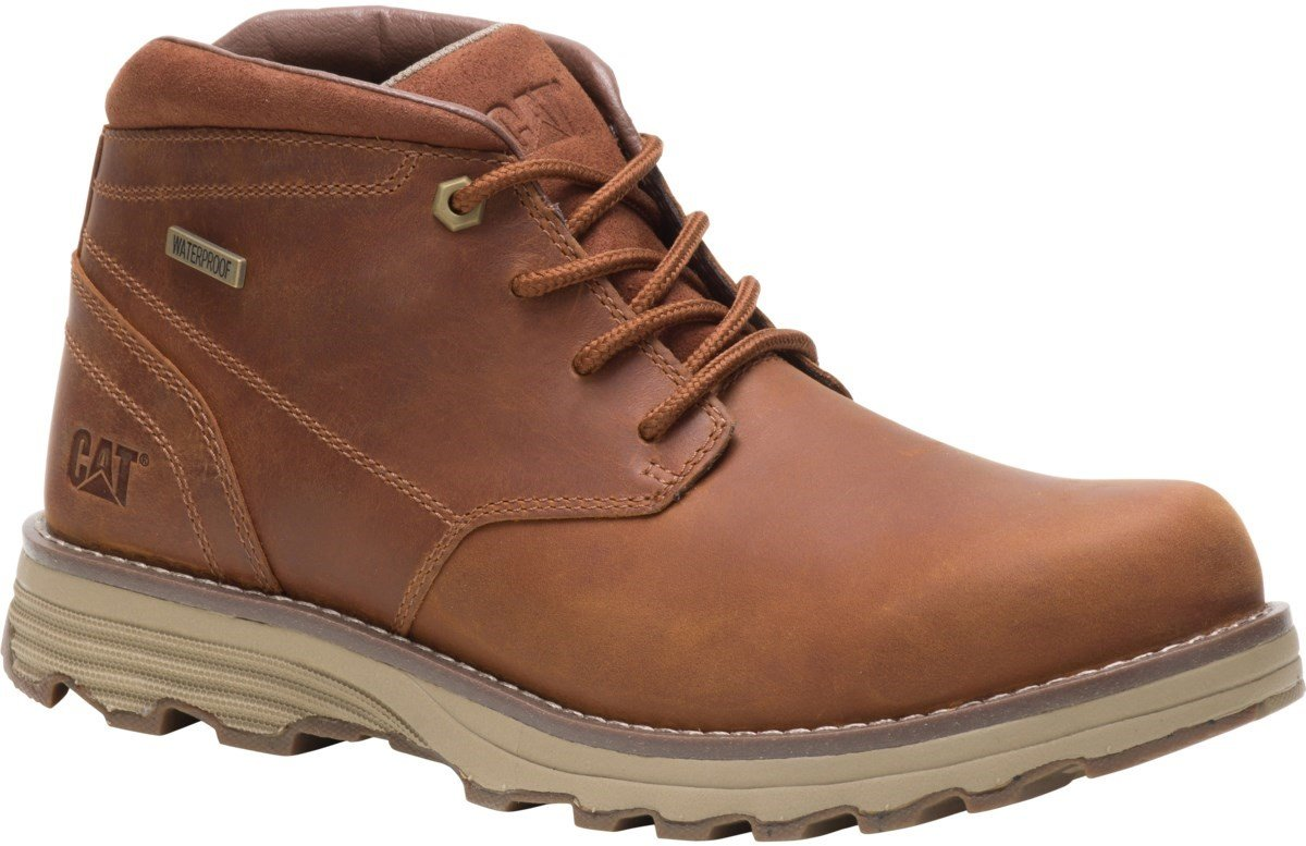 CAT Lifestyle Men's Elude Waterproof Lace Up Boot Various Colours 26178 - Camel 7