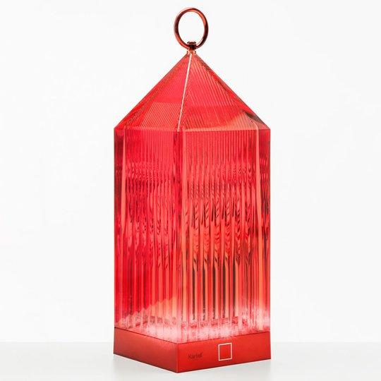 Kartell Lantern -LED-pöytälamppu, punainen, IP54