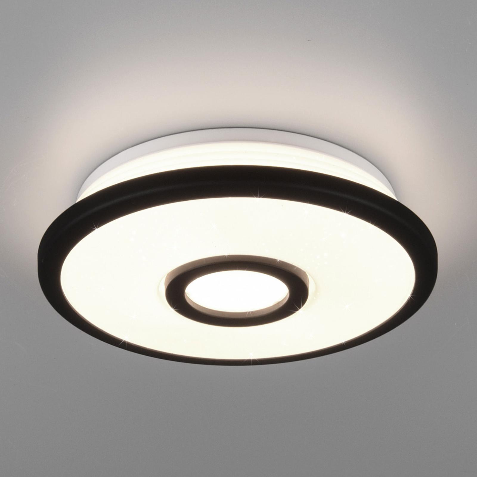 LED-kattovalo Okinawa, Starlight-efekti, Ø 21 cm