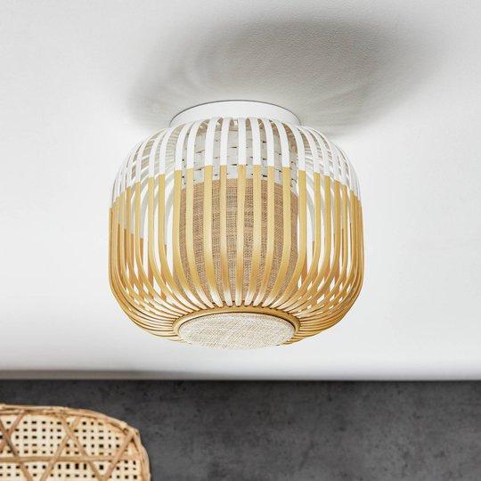 Forestier Bamboo Light XS taklampe, 27 cm, hvit