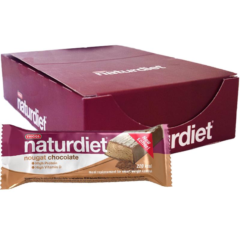 """Laatikollinen ateriankorvikepatukoita """"Chocolate & Nougat"""" 18 x 58 g - 63% alennus"""