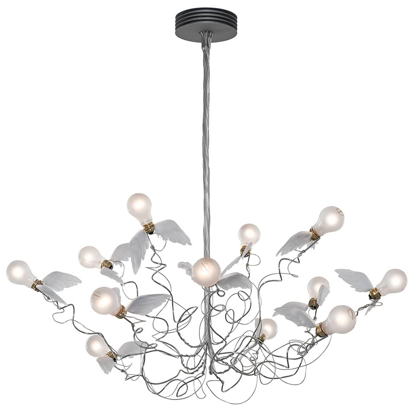 Ingo Maurer Birdie -LED-riippuvalo, kirkas johto