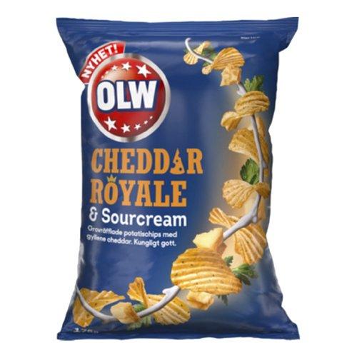 OLW Cheddar Royale & Sourcream Chips - 175 gram