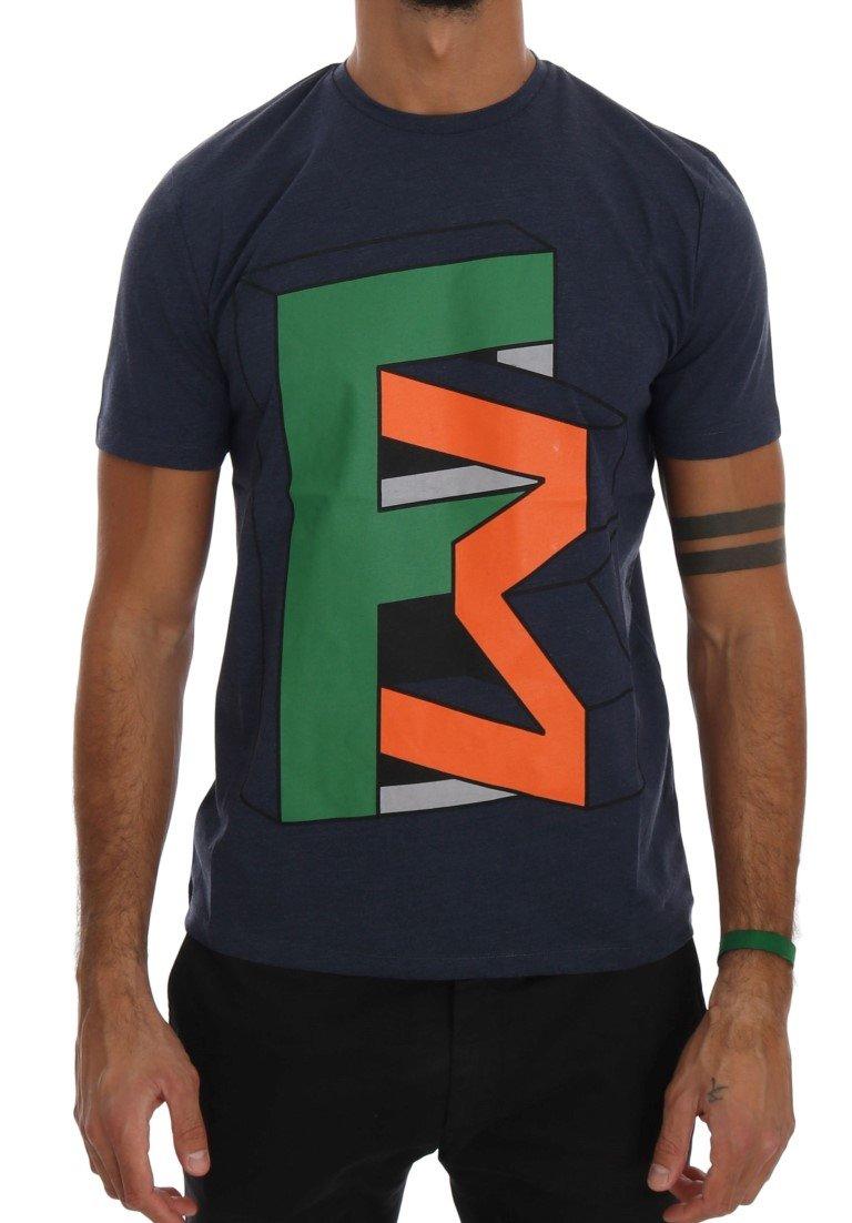 Frankie Morello Men's Branded T-Shirt Blue TSH1288 - S