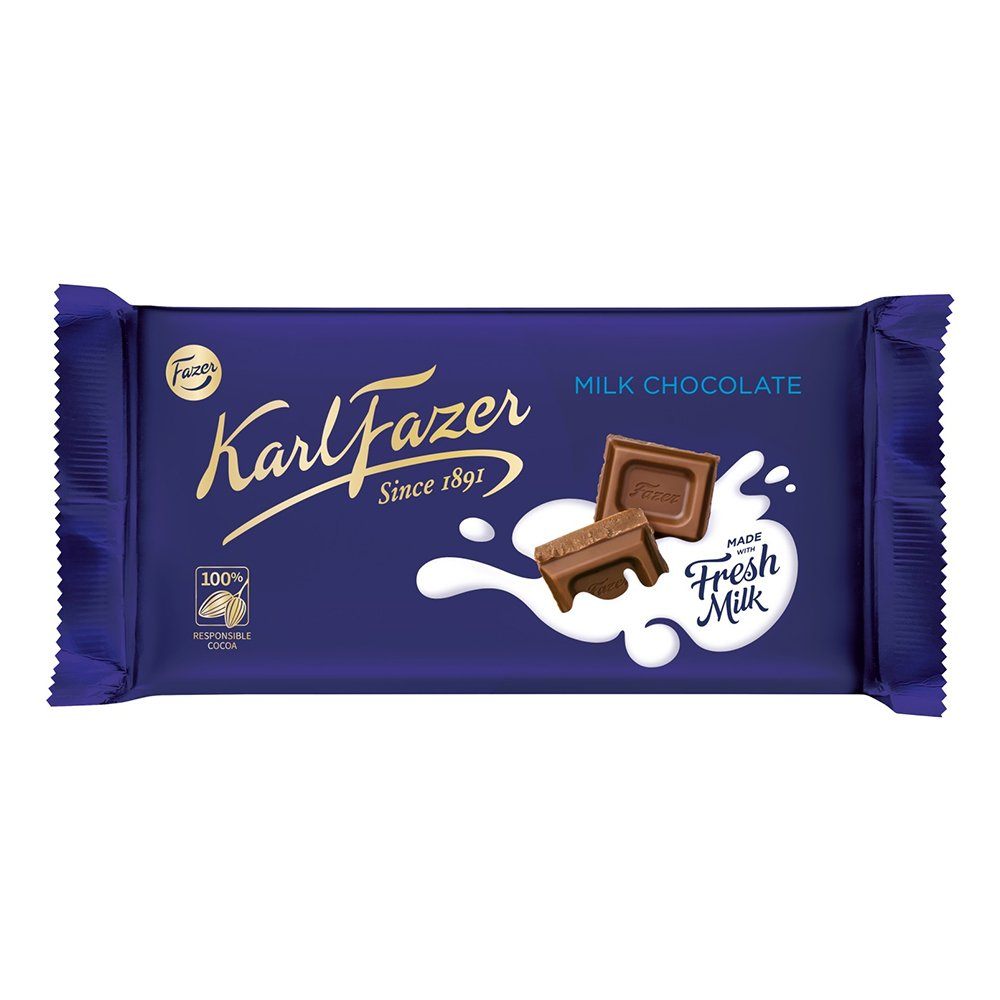Karl Fazer Mjölkchoklad Chokladkaka - 145 gram