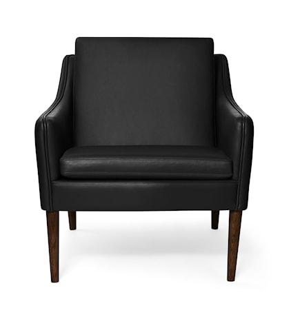 Mr. Olsen Lounge Chair Svart Läder Valnöt