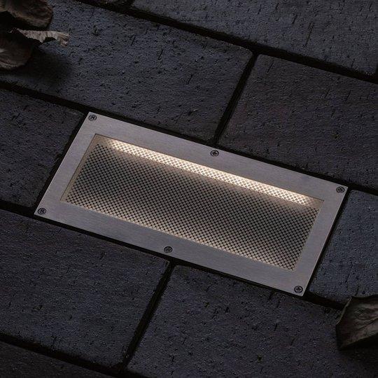 Paulmann Brick innfelt LED-gulvlampe, 10x20cm