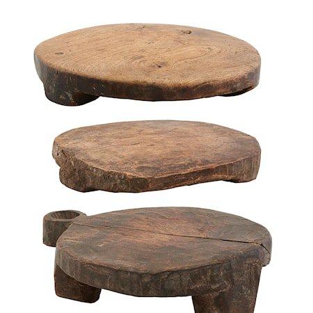 Chaklota Bordbrikker i trebrun forskjellige størrelser