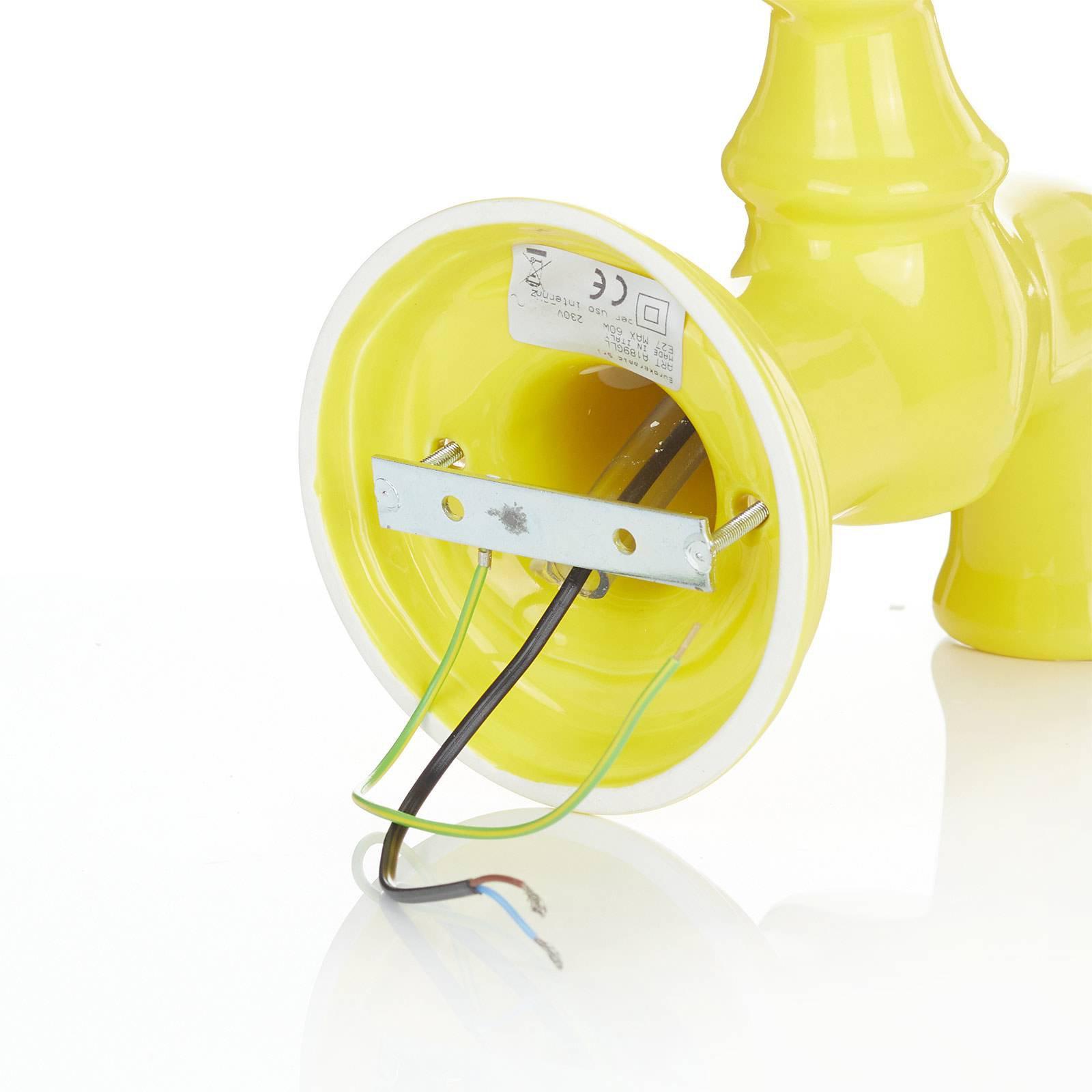 Keramisk vegglampe A189, gul blankere