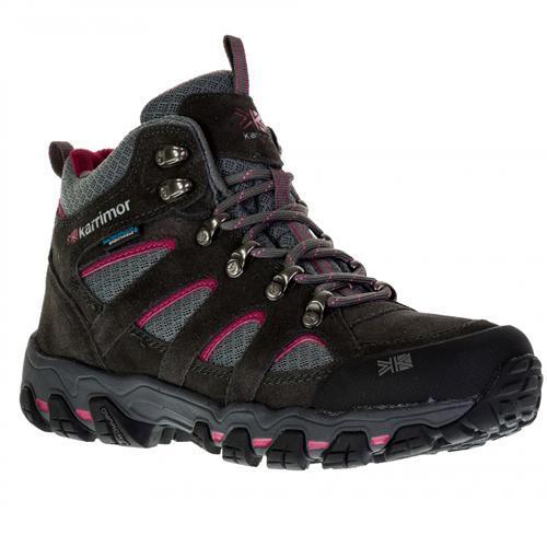Karrimor Women's Weathertite Mid Rise Waterproof Hiking Boot Multicolor Bodmin Mid 5 - Dark Grey / Cochineal UK6