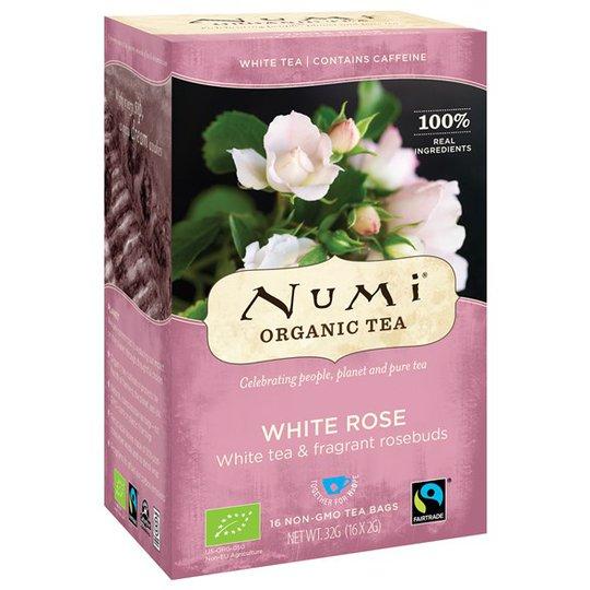 Numi Organic Tea White Rose, 16 påsar