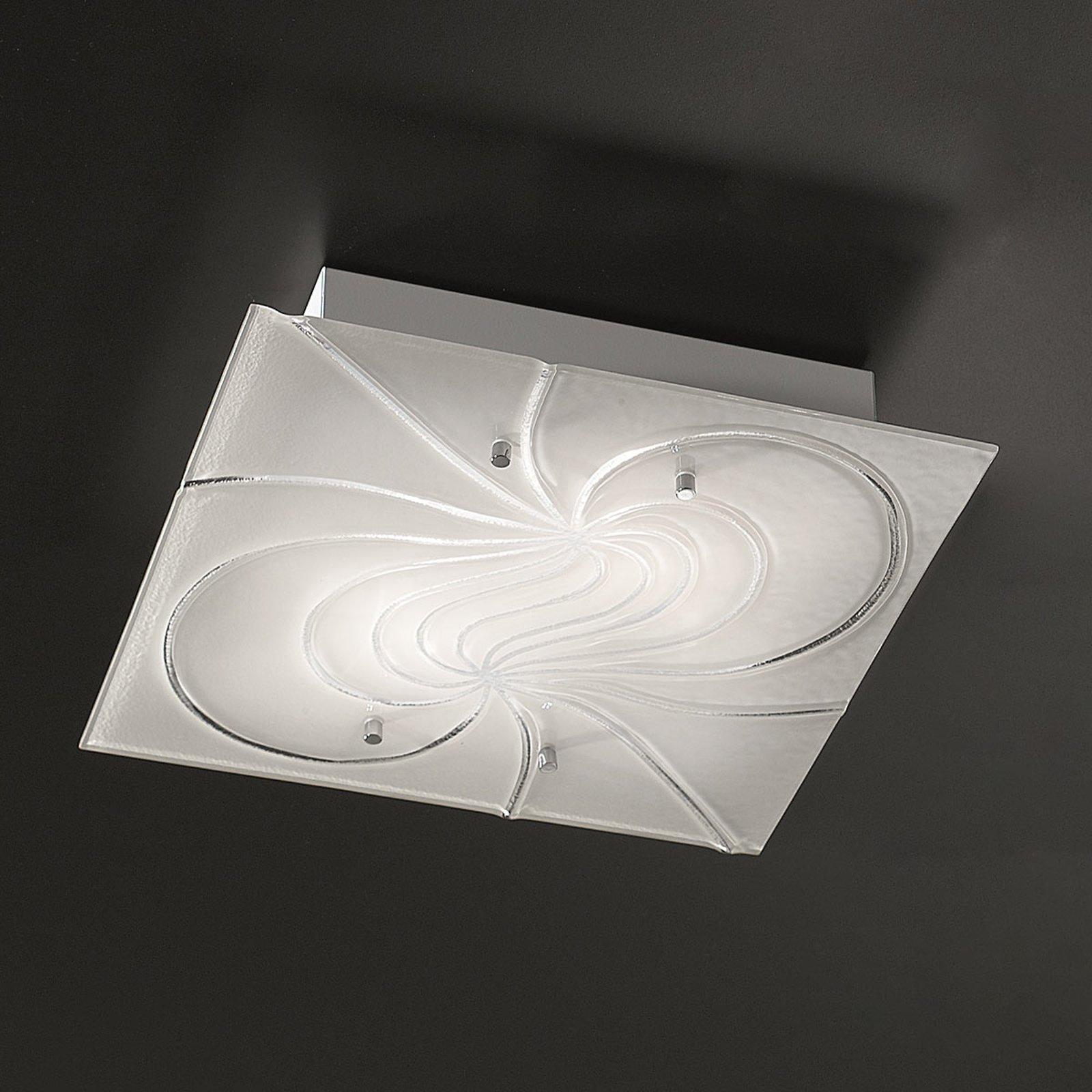 Kvadratisk taklampe Mistral 40 cm