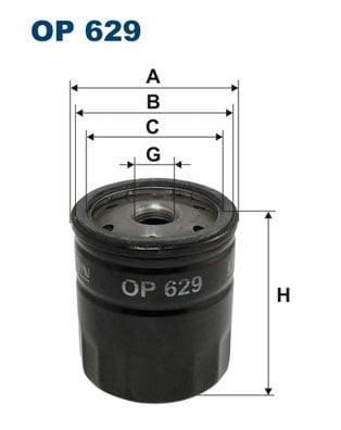 Öljynsuodatin FILTRON OP 629
