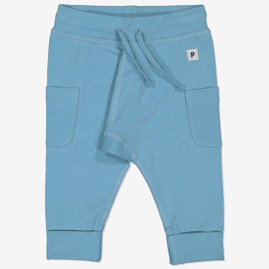 Bukse med knytebånd baby blå