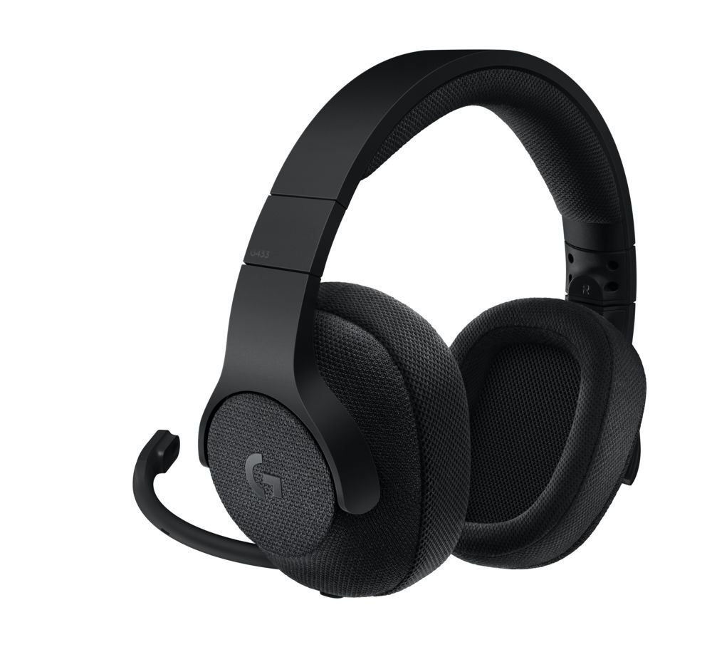 Logitech - G433 7.1 Surround Gaming Headset Black