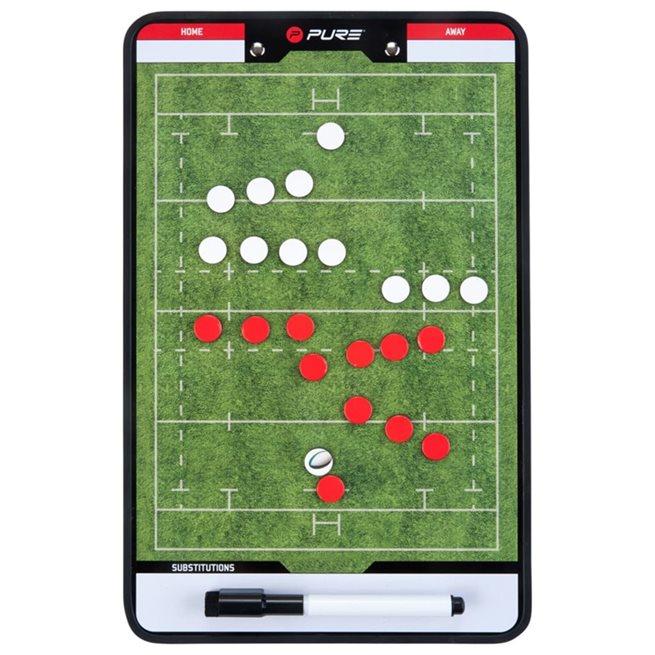 vidaXL Dubbelsidig taktikplatta för rugby 35x22 cm