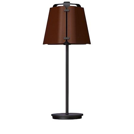Fold Bordlampe Antrasitt/Mørk Ruststruktur 27 cm