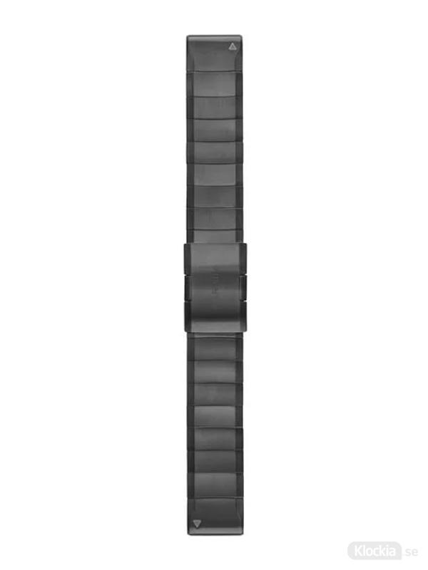 Garmin QuickFit 22mm - Klockarmband, Grå DLC-Titan