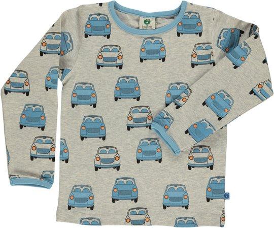 Småfolk Biler T-Skjorte, Light Grey Mix 7-8år