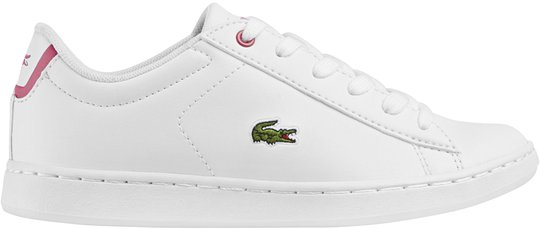 Lacoste Carnaby Evo Sneaker, White/Pink 30