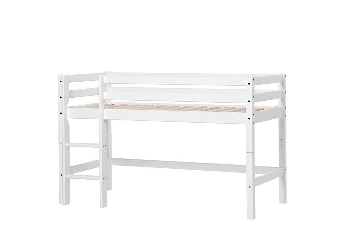 Hoppekids - BASIC Bed with half-high module 70x160 cm - White