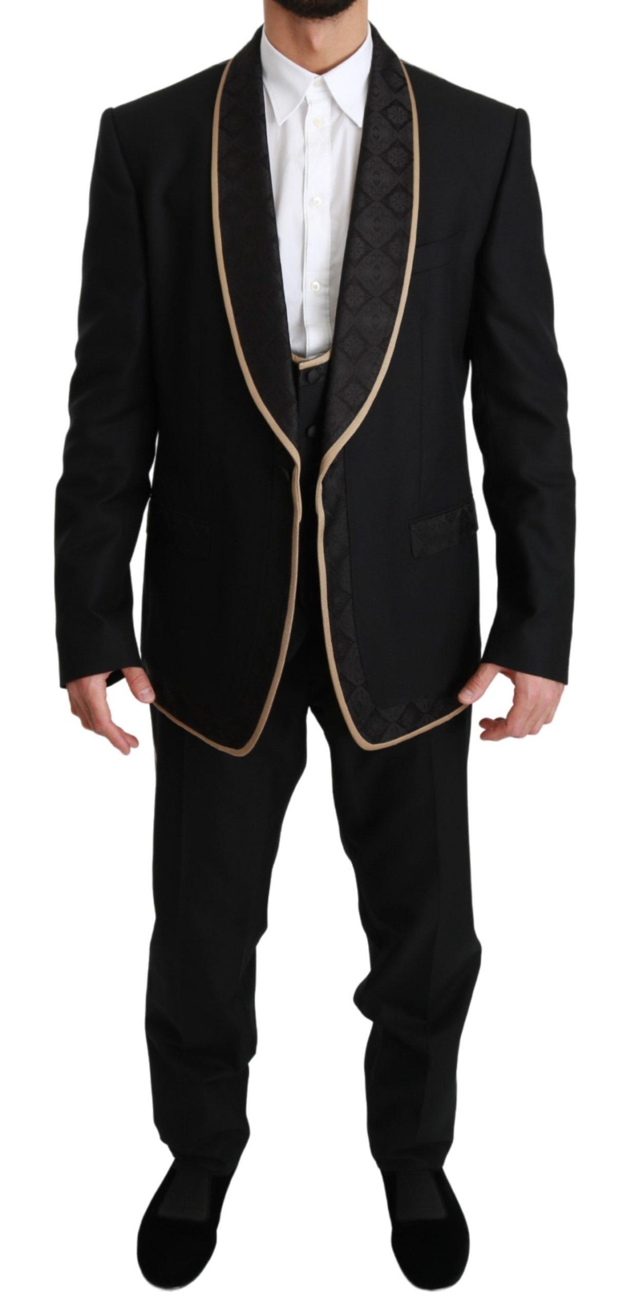 Dolce & Gabbana Men's Single Breasted 3 Piece SICILIA Suit Beige KOS1662 - IT56 | XXL