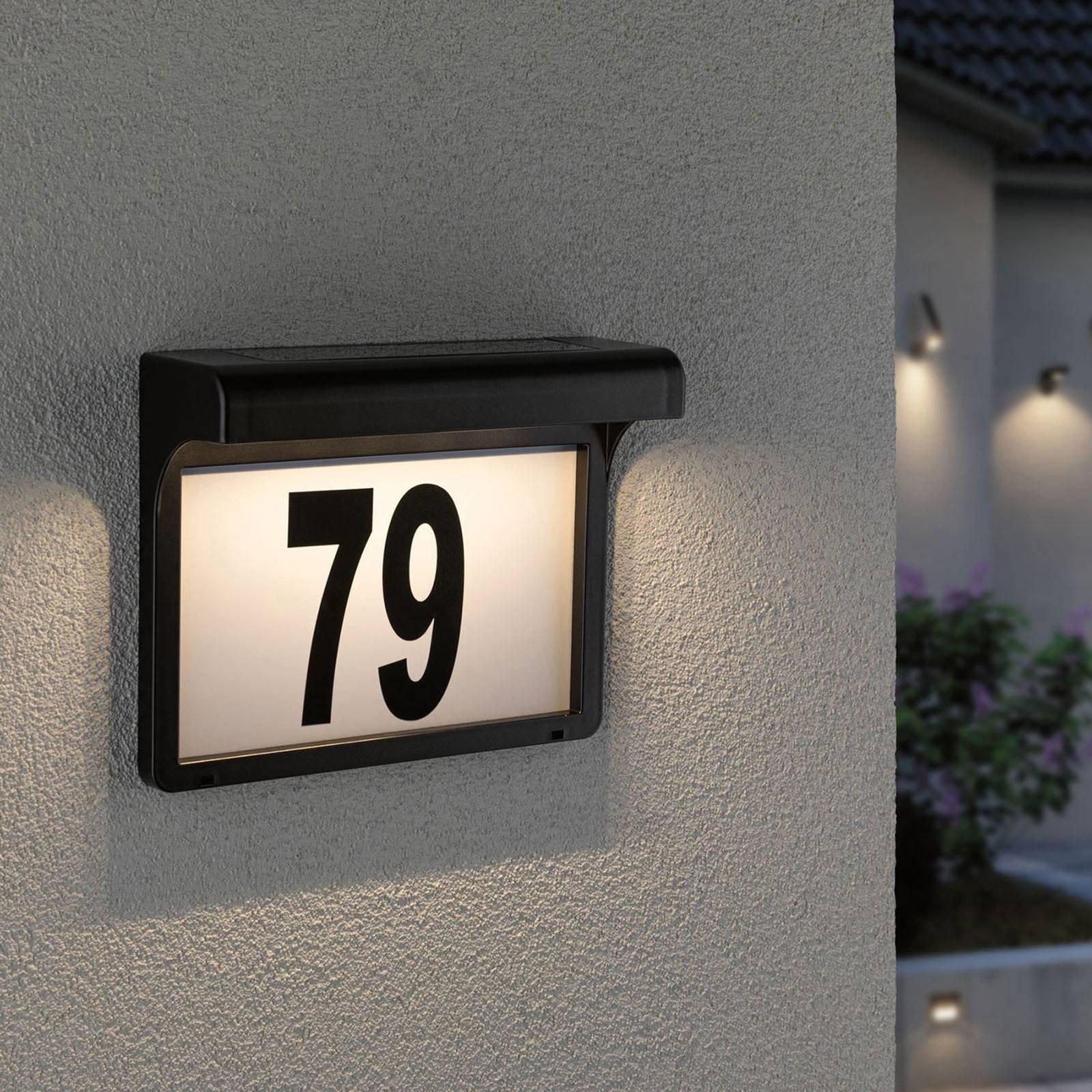 Paulmann Dayton LED-sol-husnummerlampe