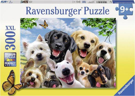 Ravensburger Puslespill Fornøyde Hunder 300 Biter