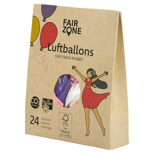 Fair Zone Ballonger Naturgummi - Mix, 24-pack