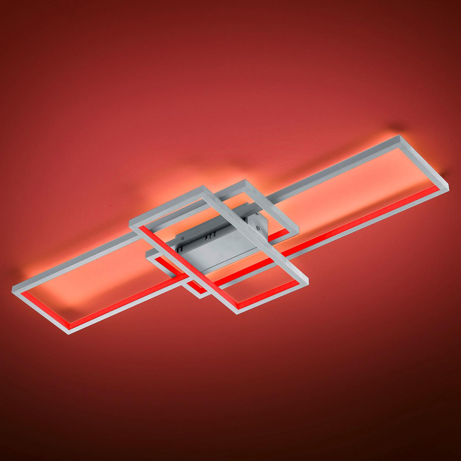 Trio WiZ Thiago LED-kattovalaisin 104 cm, nikkeli