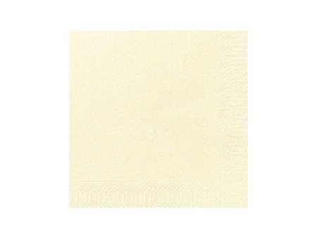 Serviett 3-lags 40 x 40 cm vanilje (125)