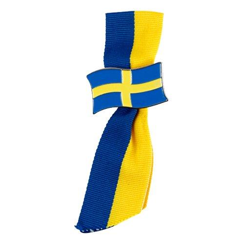 Brosch med Band Sverige